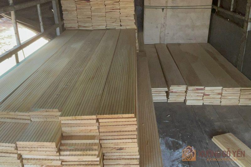gỗ bạch tùng sấy khô làm nhà nuôi chim yến
